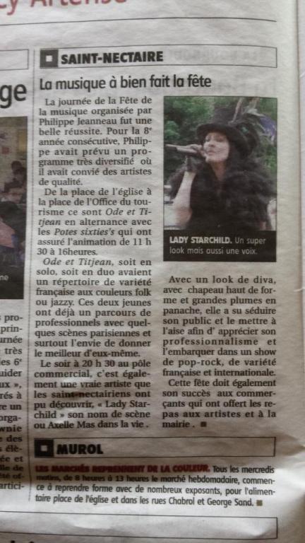 Article La montagne Fête de la musique 2015 Saint Nectaire (63)