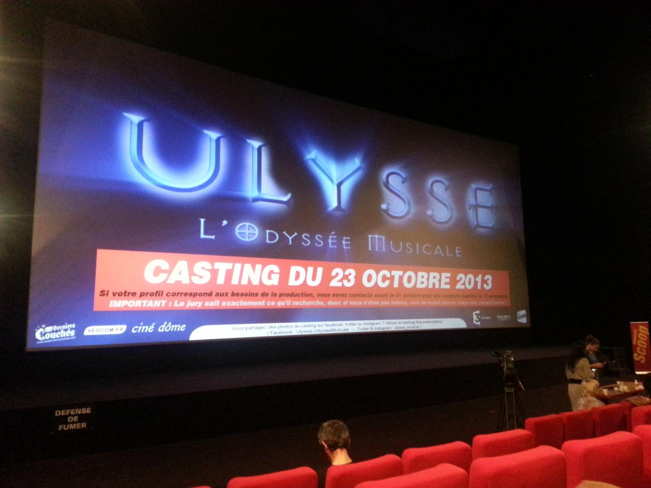casting Ulysse Comédie Musicale 2013 CF