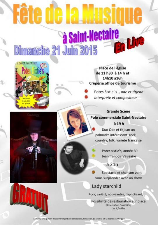 Fête de la Musique 2015 à  St Nectaire